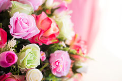 Colorful artificial bouquet flowers Royalty Free Stock Photos
