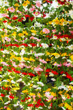 Colorful Artificial Fabric Flowers Sold in Jatujak Royalty Free Stock Photos