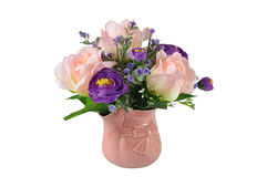 Colorful Artificial Flower Arrangement. On white background Royalty Free Stock Photography