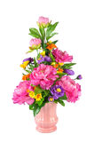 Colorful Artificial Flower Arrangement Stock Photo