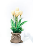 Colorful of Artificial Flower Arrangement. On white background Stock Photography