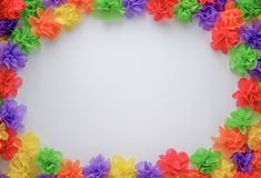 Colorful artificial flower made from mulberry paper royalty free stock images