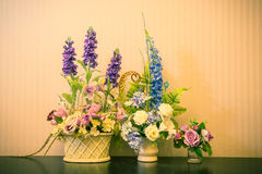 Colorful Artificial Flower Royalty Free Stock Photography
