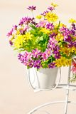 Colorful artificial flowers Stock Images