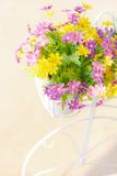 Colorful artificial flowers Royalty Free Stock Photography
