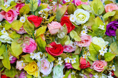 Colorful artificial flowers Royalty Free Stock Images