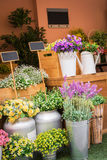 Colorful artificial flowers in flower shop Royalty Free Stock Image