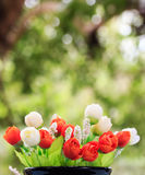 Colorful of Artificial flowers Stock Photography