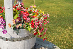 Colorful artificial flowers Royalty Free Stock Image