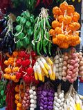 Colorful artificial vegetables royalty free stock images
