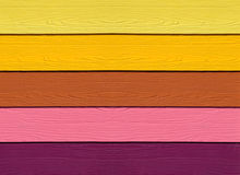The Colorful of artificial wood Stock Image