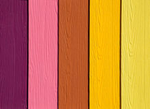 The Colorful of artificial wood Stock Photography