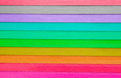 The colorful of artificial wood with a pastel colored gradient. Stock Photos