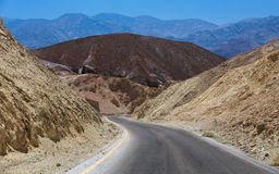 Drive in Death Valley. Colorful Artist Drive  Death Valley National Park, California Royalty Free Stock Photography