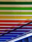 Artistic abstract of rainbow color wall royalty free stock photography