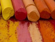 Colorful artistic crayons Royalty Free Stock Photo