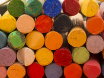 Colorful artistic crayons Royalty Free Stock Images