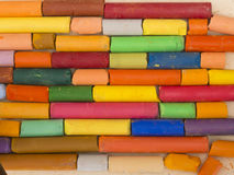 Colorful artistic crayons Stock Image