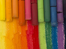 Colorful artistic crayons Royalty Free Stock Photography
