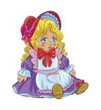 Illustration of a doll in beautiful outfit Royalty Free Stock Photos