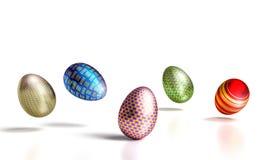 Easter 3d eggs vector illustration