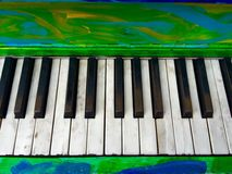 Colorful Artistic Painted Piano Keys Stock Image