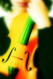 Colorful artistic violin Royalty Free Stock Photo