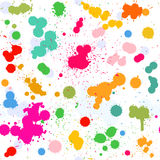 Colorful artistic watercolor splashes vector Royalty Free Stock Photo