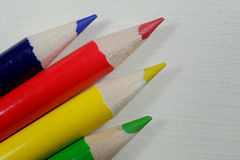 Colorful artists pencils in rainbow colors Stock Photography