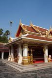 Colorful asian buildings and blue sky with clouds. Temple (Wat Phra-That-Phanom , Nakornphanom) in Thailand Stock Photos