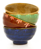 Colorful Asian Ceramic Bowls Royalty Free Stock Photo