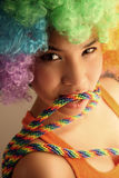 Colorful Asian girl Royalty Free Stock Images