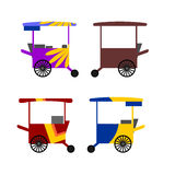 Colorful Asian street food carts collection Royalty Free Stock Photo
