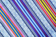Colorful Asian style fabric texture Royalty Free Stock Images