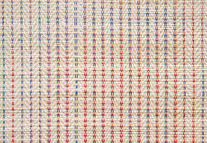 Colorful asian style weave surface close up Royalty Free Stock Photo