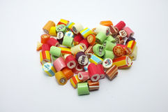 Colorful assorted candies royalty free stock images