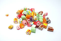 Colorful assorted candies royalty free stock photo