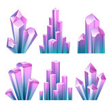 Colorful assorted crystals set. Stock Photo