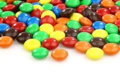 Colorful  assorted sweets on a white background Stock Photo