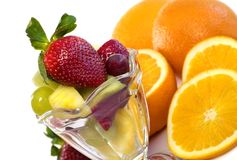 Colorful Assortment of fresh fruit in parfait Royalty Free Stock Photography