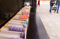 Colorful assortment of macarons or macaroons Royalty Free Stock Photos