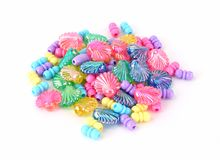 Colorful Assortment of Plastic Beads Royalty Free Stock Photography