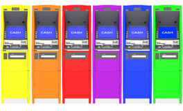 Colorful atm cash machine Royalty Free Stock Images