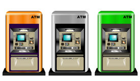 Colorful ATMs Royalty Free Stock Photos