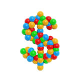 Colorful atom dollar. Isolated on white background Royalty Free Stock Photos