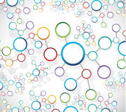 colorful atom link network illustration Stock Photos