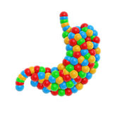 Colorful atom stomach Royalty Free Stock Image