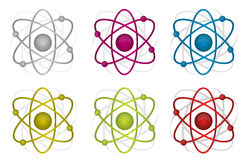 Colorful atoms illustration design Royalty Free Stock Images
