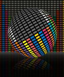Colorful audio equalizer  bars Royalty Free Stock Photos