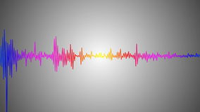 Colorful audio spectrum Royalty Free Stock Image